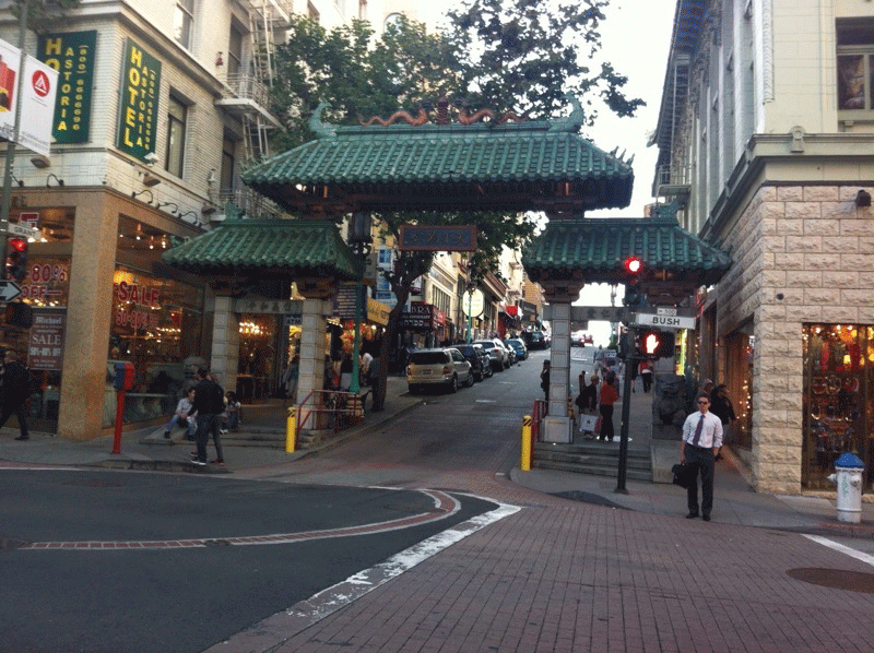 Chinatown. Sabra is on the left.