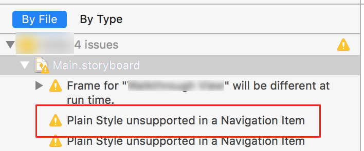Plain Style Unsupported in a Navigation Item