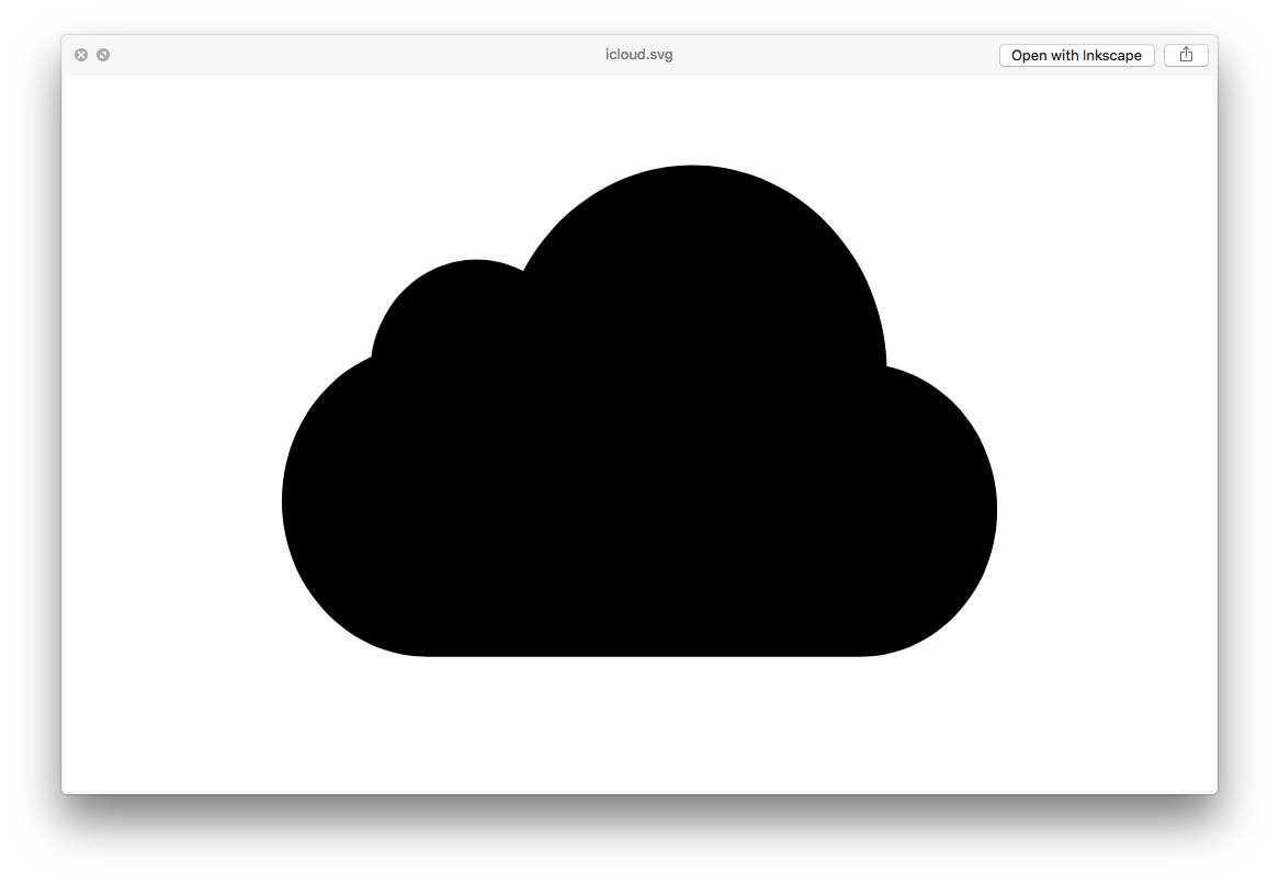 The iCloud logo as shown in a Preview window on OS X.